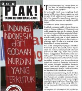 Tabloid untuk Tabok Nurdin Halid (Sumber: forum.detik.com)