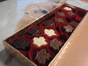 Bukan ini hehe. Ini coklat berbentuk maple yang juga dibawakan dari Kanada.